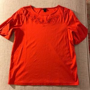 Ann Taylor lace cut out top small